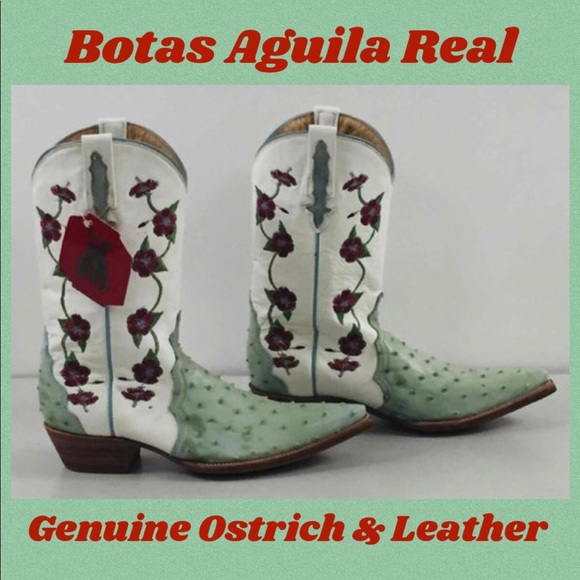Botus Aguila Real Ostrich & Leather Western Boots